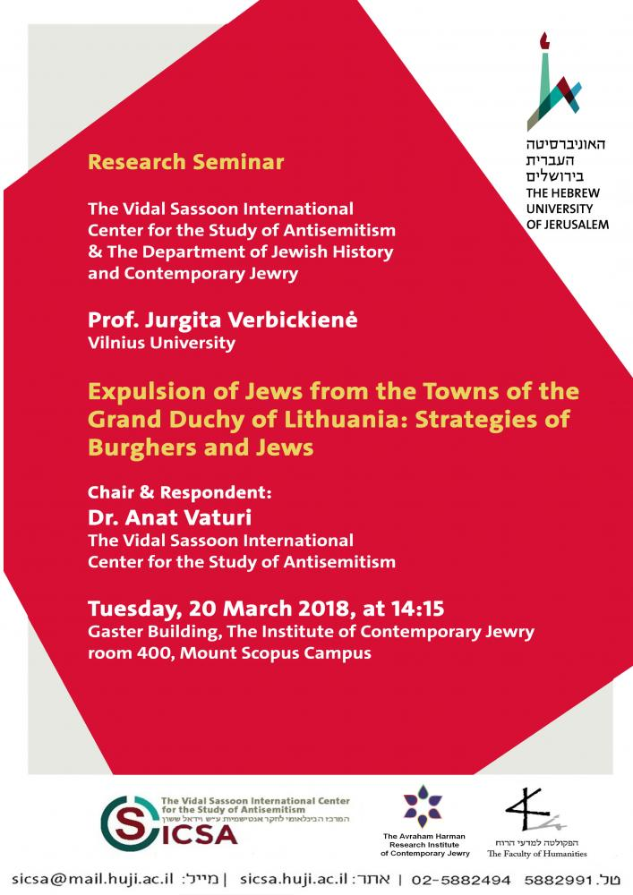 Expulsion of Jews from the Towns of the Grand Duchy of Lithuania: Strategies of Burghers and Jews