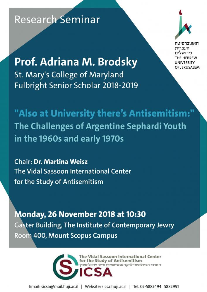 26 November 2018, Research Seminar