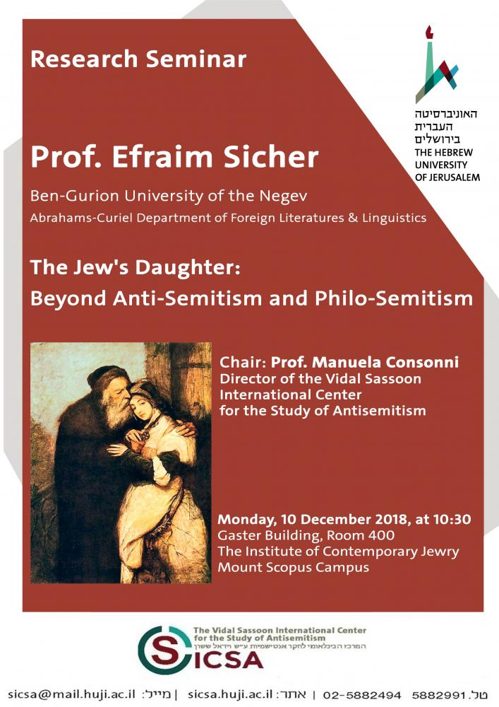 The Jew's Daughter: Beyond Anti-Semitism and Philo-semitism